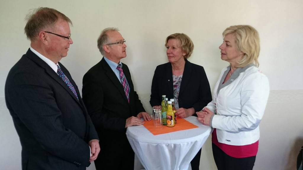 Gespräch mit Staatssekretär Lenz, Landrätin Weiss und Senator Berkhahn
